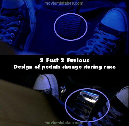 Pedāļu dizains mainās... Autors: Senču Lācis Ātrs un Bez Žēlastības - Kļūdas (Fast & Furious)