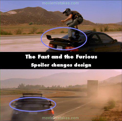 Spoileris maina dizainu Autors: Senču Lācis Ātrs un Bez Žēlastības - Kļūdas (Fast & Furious)