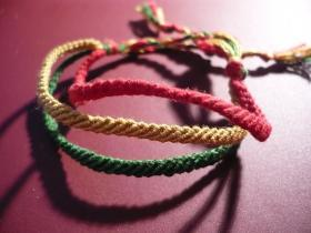 Friendship Bracelets:Kā uztaisīt thin multicolor bands?