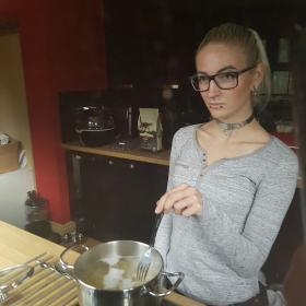 Witch😈 (cooking pasta)
