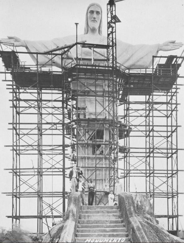 Kristus Pestītāja statuja... Autors: Lestets Pasaules ikoniskās būves pirms to pabeigšanas