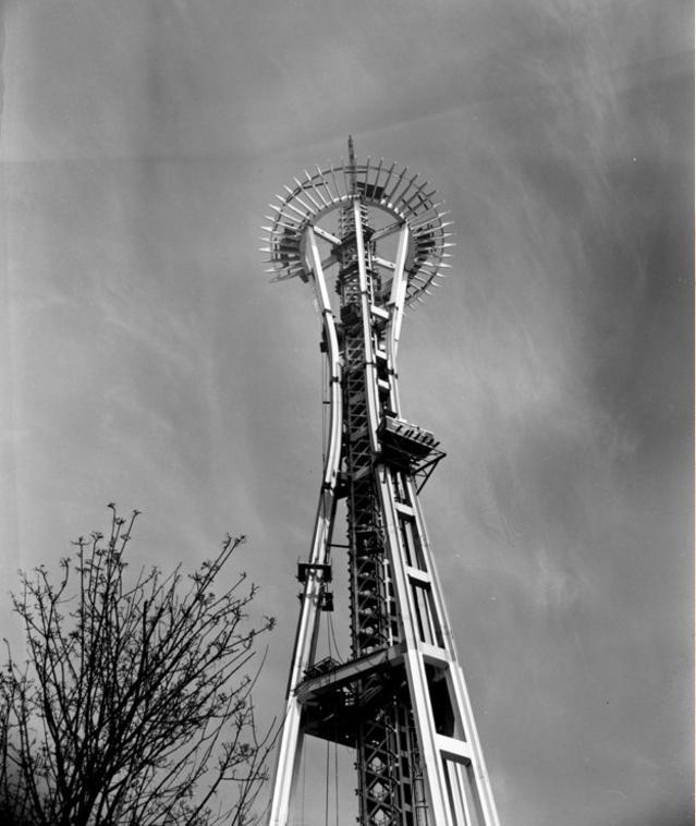 Speisnīdls Sietla 1961g Tas... Autors: Lestets Pasaules ikoniskās būves pirms to pabeigšanas