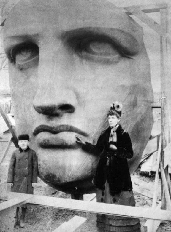 Brīvības statuja 1885g Tā... Autors: Lestets Pasaules ikoniskās būves pirms to pabeigšanas