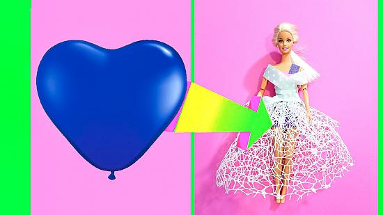 DIY Barbie Dresses with Balloons Making Easy Clothes for Barbies