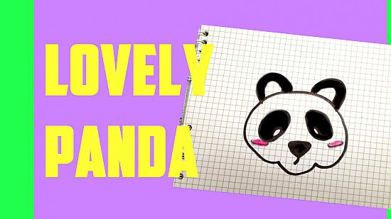 How to draw a lovely panda